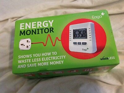 New in Box Eaga Energy Monitor Sealed interior Electricity electric monitor