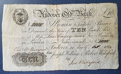 Andover Old Bank 10 pound note