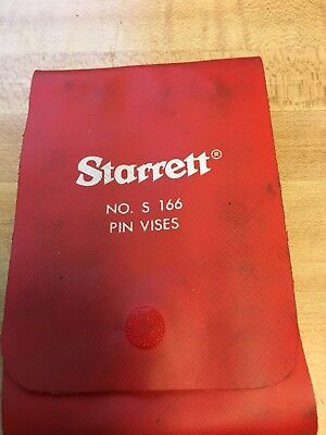 Starret No.s 166 Pin Vises  Complete Set Of Four