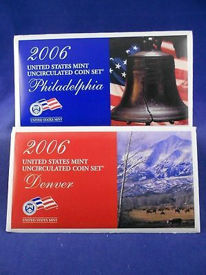 2006 P&D US Mint Annual Uncirculated Coin Set. Includes OGP & COA. MS/BU.
