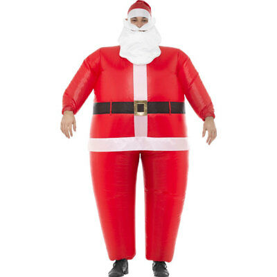 Inflatable Santa Suit Xmas Father Adult Mens Christmas Fancy Dress Costume 48932