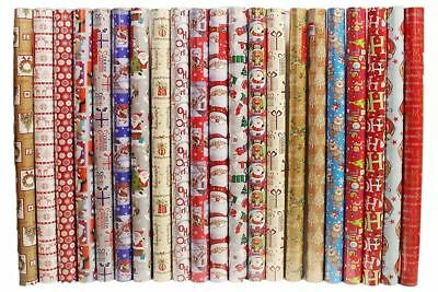 4 x 10M Christmas Gift Wrap Wrapping Paper Roll Xmas Assorted Random Present 40m