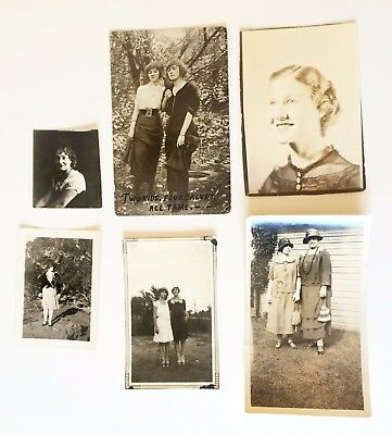 Lot of Vintage Photographs 1920s Teens Postcard Saucy Flappers Fashion Hairstyle