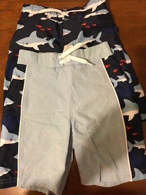 2 Janie And Jack 2T Swim Shorts Sharks Preowned