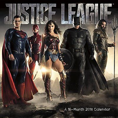 The Justice League (Movie) 2018 Wall Calendar, New