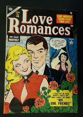Love Romances #44 ! ATLAS 1954 ! VERY SHARP COPY ! MORT MESKIN ! hayfamzone
