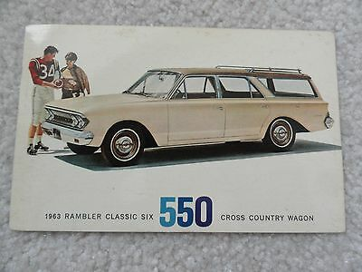 The 1963 Rambler Classic Six 550 Cross Country Wagon   Postcard