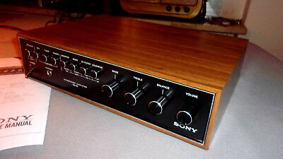 Vintage Bellissimo Amplificatore Stereo Sony Type  Ta 70  - (35+35 W) Perfetto !