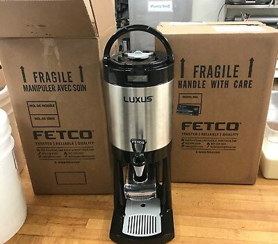 Two Fetco L4D-10 4liter 1Gallon Beverage Dispensers New