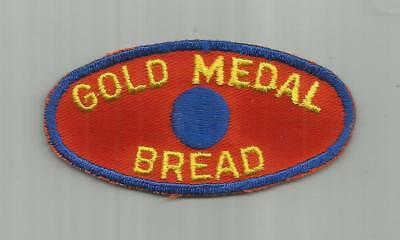 1950's GOLD MEDAL BREAD HOLSUM BAKERY DELIVERY DRIVERS PATCH OLD TWILL UNSEWN