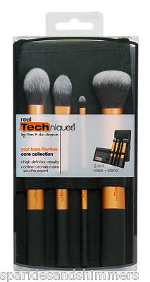 Real Techniques CORE 4 Brush COLLECTION: Foundation/Buffing/Contour/Detailer
