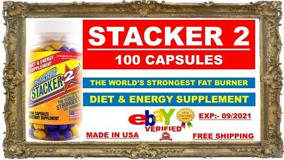 Stacker2 100ct Extreme Fat Burner New/Sealed Fast Shipping Stacker 2 EXP 09/2021