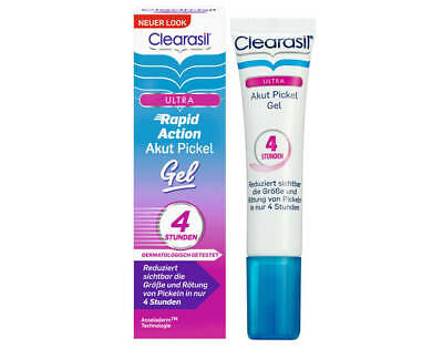 CLEARASIL ULTRA RAPID ACTION PIMPLE TREATMENT GEL VANISH BLEMISH ACNE SPOTS 15ml