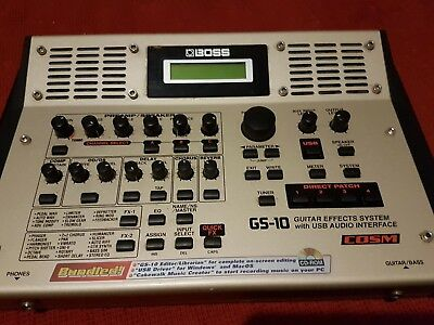 BOSS GS-10 Guitar Effects System with USB Audio Interface