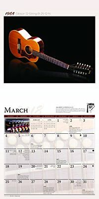 Vintage Guitars 2018 12 x 12 Inch Monthly Square Wall Calendar by Wyman, Instrum