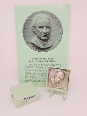 .999 Silver MEDAL Statehood Series MEDALLIC ART - Michigan - Henry Ford