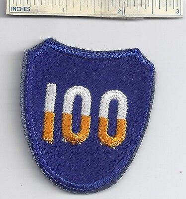 Original WW2 Patch - 100th INFANTRY DIVISION - WWII Shoulder US Army Military