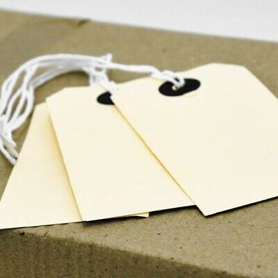 Buff Brown Manilla Strung Tags Tie On Luggage Gifts Labels Wedding Craft Card