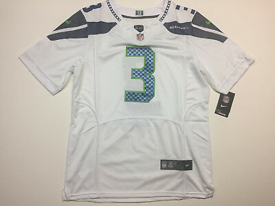 RUSSELL WILSON  3 Seattle Seahawks Men s White Color Nike Jersey NWT ... 2230a3636