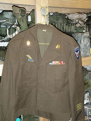 WWII 11th Airborne Division Ike JAcket with awards and insignia