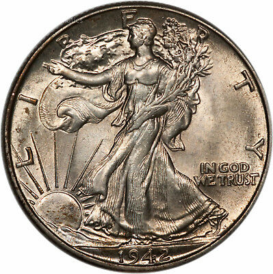 1942 Walking Liberty Half - BU - Choice Brilliant Uncirculated (6614.q0867)