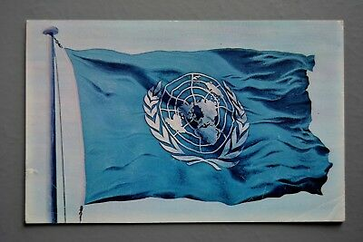 R&L Postcard: United Nations Flag Posted 1960