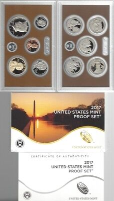 USA: United States Mint Proof Set 2017, 2,91 Dollar, 10 Münzen