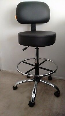 Unused new Boss Office Products B16245-BK Be Well Medical Spa Drafting Stool