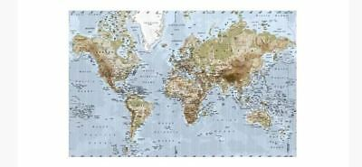 Ikea premiar map large world atlas canvas picture art map with frame ikea map premiar large world map picture atlas on canvas stored in tube gumiabroncs Image collections