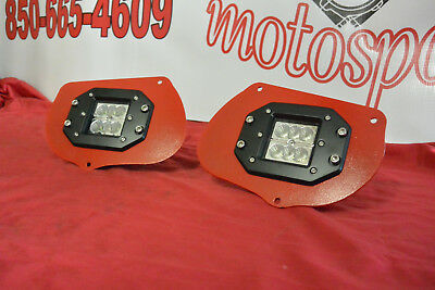Red LED Head Light Pod Mount Bracket Kit Polaris Sportsman 1000 850 RZR 800 900