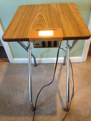 Vintage Logan Show King Folding Projector Table w/ Auxiliary Outlets Model 1220