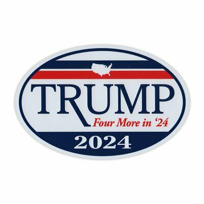 Oval Shaped Magnet - Donald Trump President 2020 - Magnetic Bumper Sticker