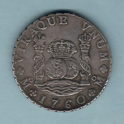 Mexico. 1760-MM 8 Reales - Pillar Dollar..  gVF