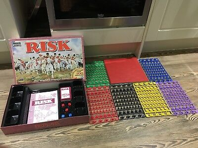 Risk Vintage Strategy Board Game RARE UNUSED & Unpunched Figures
