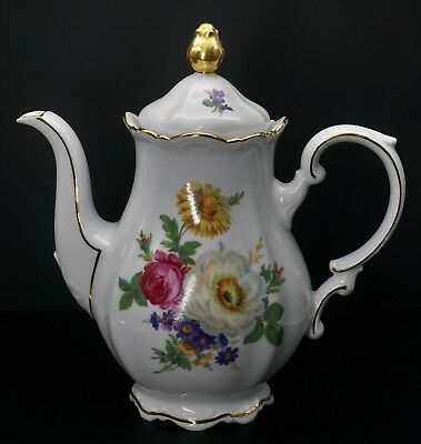 Meissen Floral by Mitterteich Germany Coffee Pot - Excellent Condition!