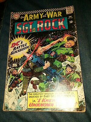 our army at war 168 vg 1st appearance the unknown soldier lot run movie sgt rock
