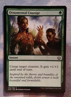 MtG - 4x Ornamental Courage / Common / Englisch / TOP NM!!