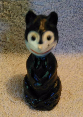 "1930's Vintage Celluloid Halloween Black Cat ""Felix"" Figurine 3-1/2 inches tall"