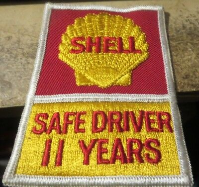 vintage unused Shell Oil co cloth clothing patch Safe Driver 11 years