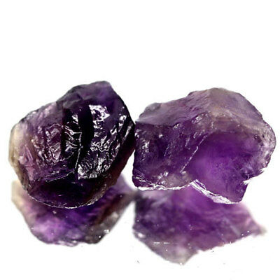 2 Pieces 13.59Ct.pair! Rough Dark Purple Natural Amethyst Brazil Free Shipp!