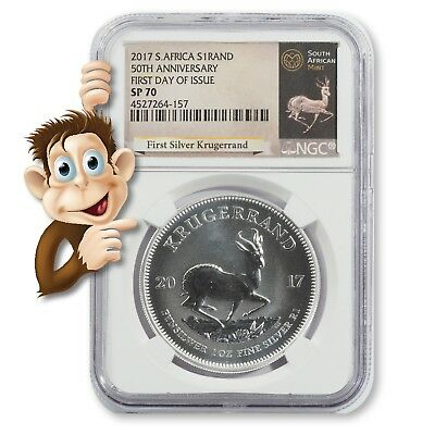2017 S. Africa S1 Rand 50th Anniversary - NGC SP70 - NO RESERVE
