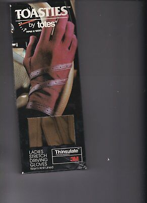 Toasties by Totes Driving Gloves Stretch Thinsulate 3M In original package