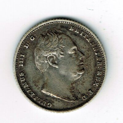 1835 William IV sterling silver sixpence 6d coin - 2.8g