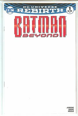 Batman Beyond #1 DC Rebirth Blank Variant NM