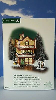 Dept 56 Dickens Village THE DAILY NEWS! - New w/ sign and figurine