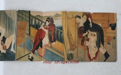 Shunga ancient Painting Erotic lust Westerners old book art Picture album N