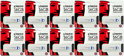 Lot of 10 x Kingston 16GB DataTraveler G4 16G USB 3.0 Flash Drive DTIG4 16GB