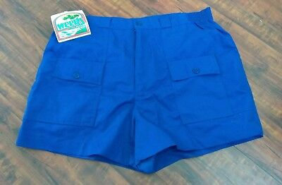 Vtg NOS Nwt's NEW 80's WEEDS MEN'S  BLUE SHORTS Boards Surf casual Shorts  Sz.38