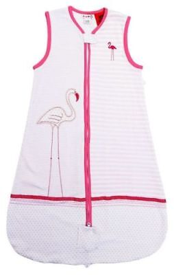 Plum Jersey Front Opening Sleep Bag 2.5 Tog (Flamingo) - 0-6m