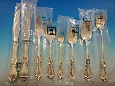 Queen Elizabeth I by Towle Sterling Silver Flatware Set 12 Service 107 pcs New